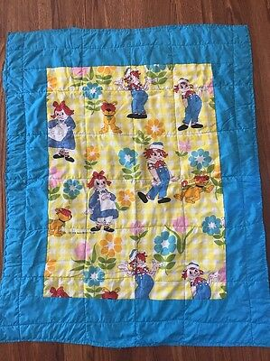 Vintage Raggedy Ann Wall Hanging Baby Quilt The Bobbs Merrill Co