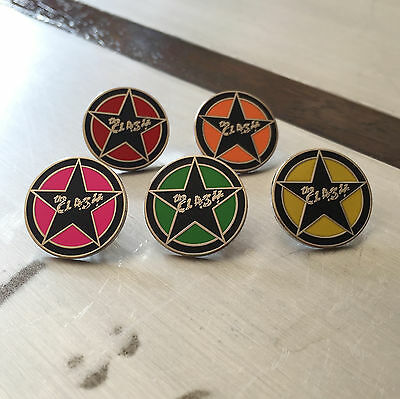 The Clash - Star Icon Enamel Pin Badge Choice Of Colours Joe Strummer