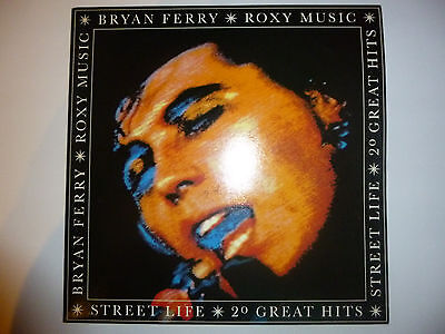 "Bryan Ferry/Roxy Music ‎– '20 Great Hits' 2x12"" vinyl album LP. 1986 UK. EX/EX+"