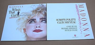 MADONNA Who's That Girl 2 Sided Promo 12x12 Poster Flat 1987 Mint-