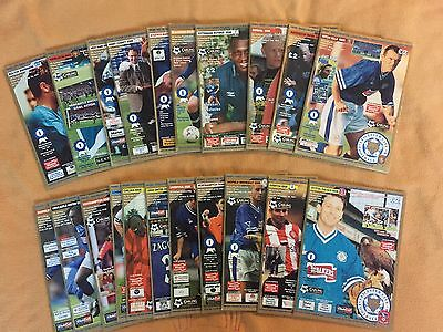 Leicester City 1997 1998 Complete Set 21 Home Football Programmes 97 98 Uefa