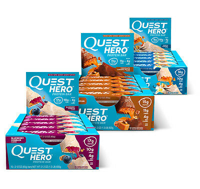 Quest Nutrition Hero Bars Protein Built Like A Candy Bar (Varieties Available)