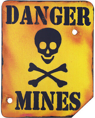 NEW Danger Mines Wooden Vintage Style Sign Wood Kids Bedroom Signage Den