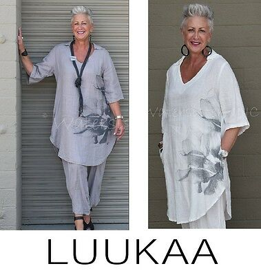 2 COLORS LUUKAA 7K0110 Tulle Netting JILL TUNIC Layering Pocket Top sizes 6-20