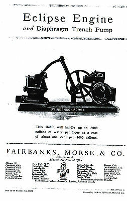 Fairbanks Morse Eclipse Engine diaphragm trench pump book hit miss gas motor
