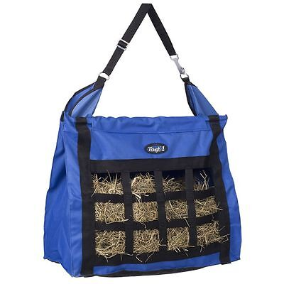 Tough-1 Nylon Hay Bag Tote with Dividers and Mesh Bottom with Carry Strap Blue