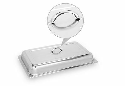 SET of 2 CATERING STAINLESS STEEL 8 QUART CHAFER CHAFING DISH