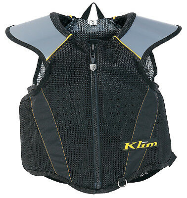 Klim Mens & Youth Black/Grey Tek Snowmobile Armor Vest Snow Snowcross