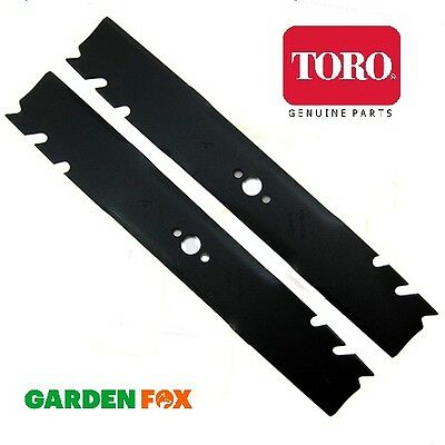 "Pair of Genuine TORO Timemaster 30"" (Twin Cutter) Mower Blades 120-9500-03 1246X"