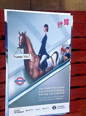 """transport for london olympic 2012 poster horse 25""""x40"""""""