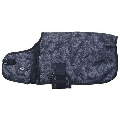 Tough-1 600D Dog Blanket in Prints Small Tooled Leather Black