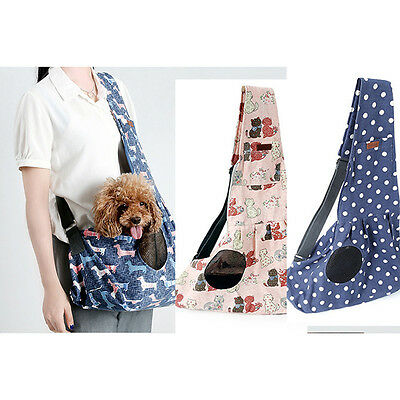Pet Cat Dog Canvas Carrier Single Shoulder Sling Bag Tote Travel Stroller Pouch