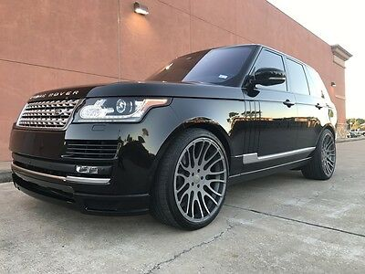 2016 Land Rover Range Rover Hamann Supercharged Ebony 2016 Fully Loaded Hamann Ebony Range Rover Supercharged 5.0 V8 Engine 510 hp