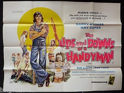 The Ups And Downs Of A Handyman Original Quad 1976 Poster Barry Stokes Sue Lloyd
