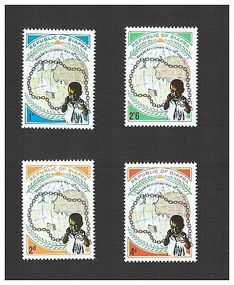 Biafra stamps 1969 Lot of 4 stamps # 35-38  MNH