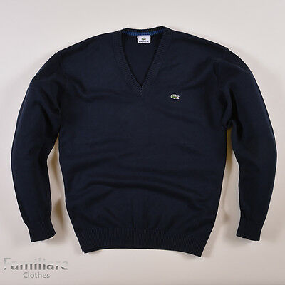 lacoste herren v neck pullover sweater gr 6 xl navy blau. Black Bedroom Furniture Sets. Home Design Ideas