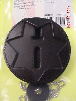 Perfect Fit Recessed Clip on Badge Holder with Pocket and Chain 285