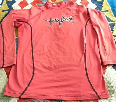 Rip Curl Solar Protection l/sleeve red swim shirt size XL