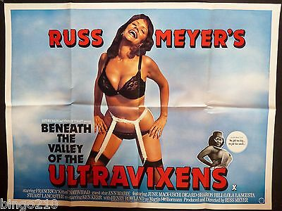 Beneath The Valley Of The Ultravixens Quad Poster Russ Meyer Kitten Natividad