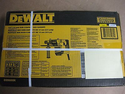 Brand New DEWALT D25052K 3/4 in. Compact SDS Rotary Hammer Drill