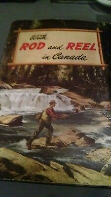 Vintage With Rod and Reel in Canada  booklet 1947 fishing guide illustrated