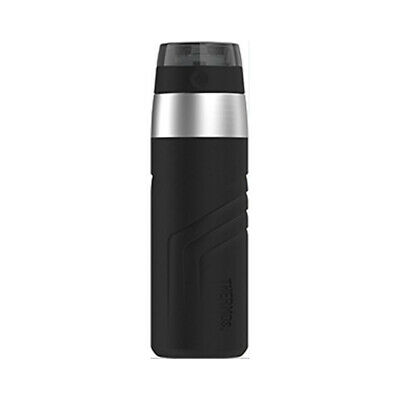 THERMOS Vacuum Insulated Stainless Steel Sporty Direct Drink Bottle 20oz Black
