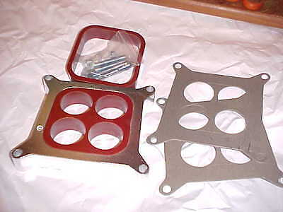 1'' aluminum 4 hole/or/open tunable carb spacer kit,more power,chevy rat rod 350