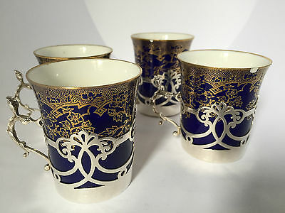 Silver Coffee Cans / Cups and Holders by Spode