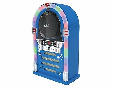 CD Jukebox Speaker System with Color Changing Light & Bluetooth 3nWatt