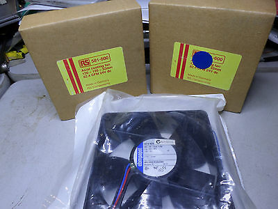 PAPST COOLING FANS - Qty of 3 - 119mm x 119mm - 24DC -- 4314M and 4214NGN