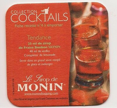 Sous Bock  Collection  Cocktails   Sirop  Monin Nr 4