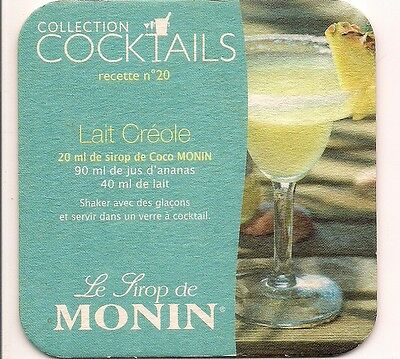 Sous Bock  Collection  Cocktails   Sirop  Monin Nr 20