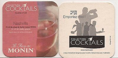 Sous Bock  Collection  Cocktails   Sirop  Monin Nr 16