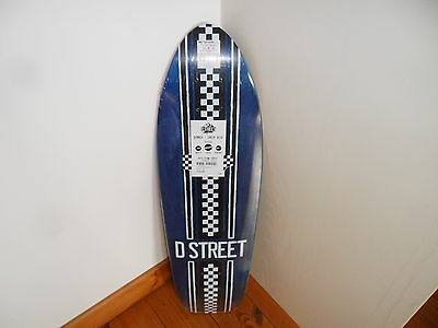 Genuine Brand New  D-Street Stubby Longboard/cruiser  Deck With Griptape  29 ""