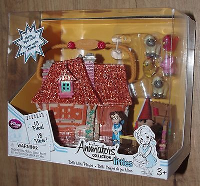 Disney Store Belle Micro Playset Disney Animators Collection Littles House