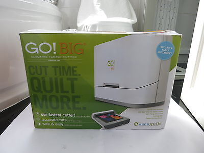 Accuquilt Go! Big Electric Fabric Cutter Starter Set *boxed*uk