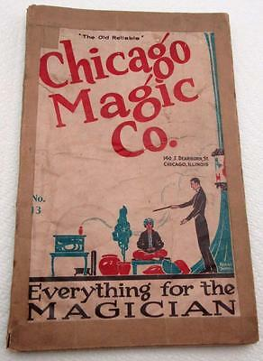 Antique Chicago Magic Co #13 Magician Catalog 1927 Contain 184 Pages