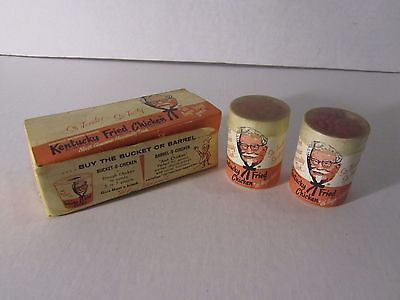 VTG '54 Kentucky Fried Chicken KFC Colonel Sanders Buckets Wooden Matches in Box