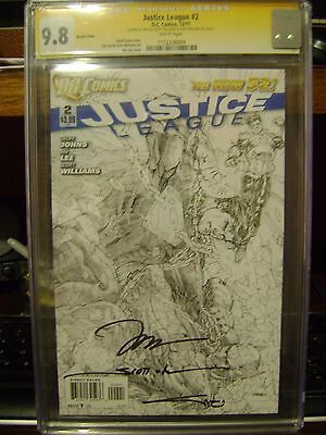 JUSTICE LEAGUE CGC 9.8 SS 2 1:200 JIM LEE SKETCH VARIANT Williams Alex Sinclair