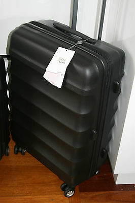 Medium 68cm Antler Juno Hardcover Suitcases - Black - Factory Second