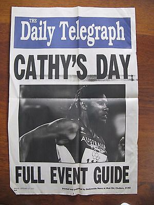 2000 Olympic Cathy Freeman Poster