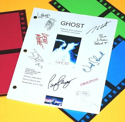 Ghost 1990 Movie Signed Script Rpt Patrick Swayze, Demi Moore, Whoopi Goldberg