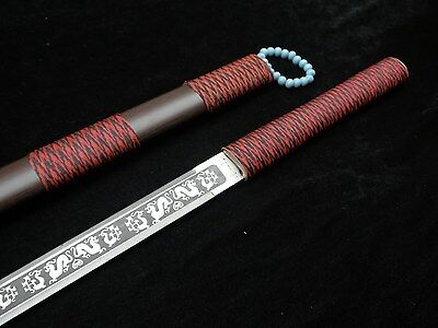Chinese sword Stainless steel blade Emboss Alloy Scabbard Special Tai chi