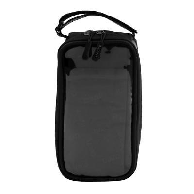 Cycling Bicycle Front Tube Bag Frame Pannier Case Safety Reflect Tape -Black