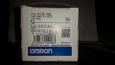 Omron H3Cr-H8L Timer Power Off Delay 120 Vac New In Box