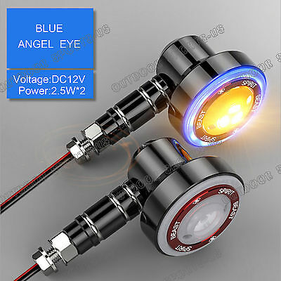 LED Turn Signals Light Indicator Brake Lights Tail Lamp For Triumph Angel Eyes