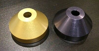 Dome Adapter Metal Gold and Charcoal color. Qty: 2