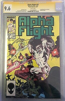Alpha Flight 51 cgc 9.6 SS Signed By Jim Lee
