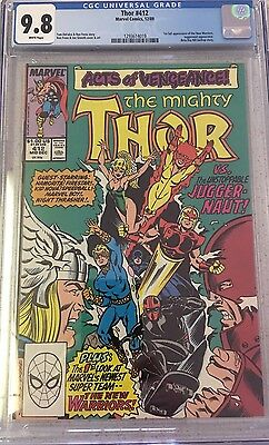 Thor #412 1st New Warriors NM+ CGC 9.8 New Case! Marvel TV Show/ Night Thrasher