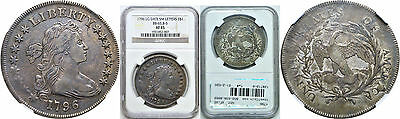1796 Bust Dollar NGC XF-45 Large Date, Small Letters